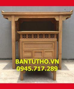 mẫu bàn thờ nhà chung cư để mộc
