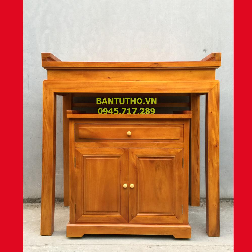 bàn thờ chung cư gỗ mít