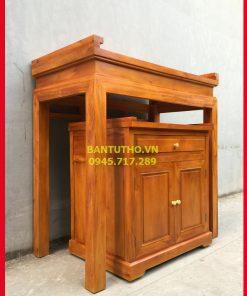 bàn thờ chung cư bằng gỗ mít