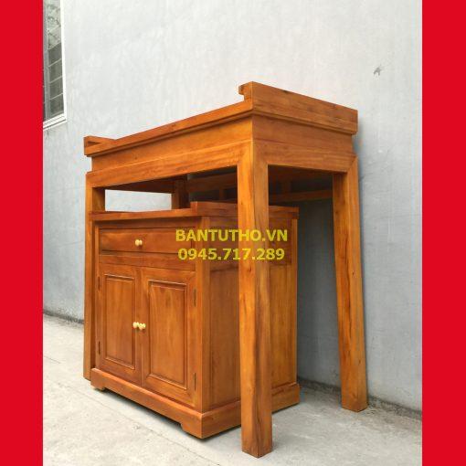bàn thờ nhà chung cư gỗ mít