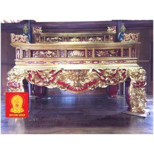 Bàn sập thờ tam cấp sơn thếp BST 03