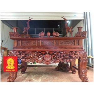 Sập thờ gỗ gụ dạ mai ngũ phúc BST 010