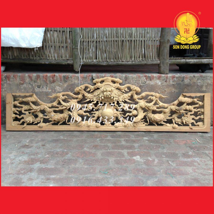 Cửa Võng Tứ Linh Trạm Khắc Tinh Xảo CV12