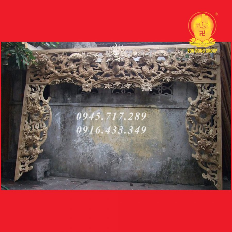 Cửa Võng - Bao Lam Cửu Long Gỗ Dổi CV09
