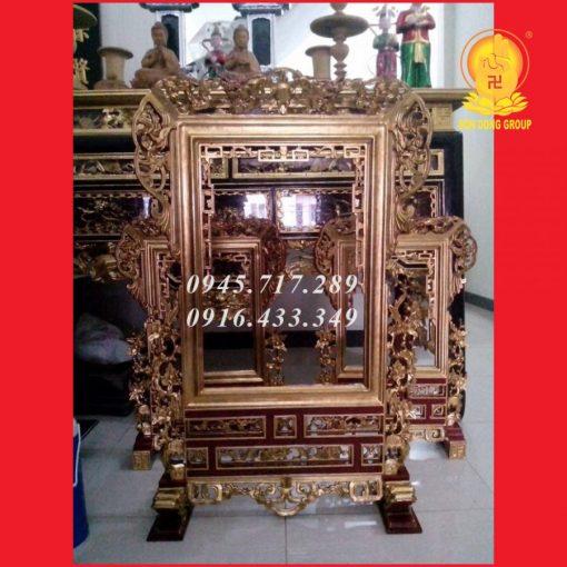 Khung Ảnh Gỗ Vàng Tâm KA09
