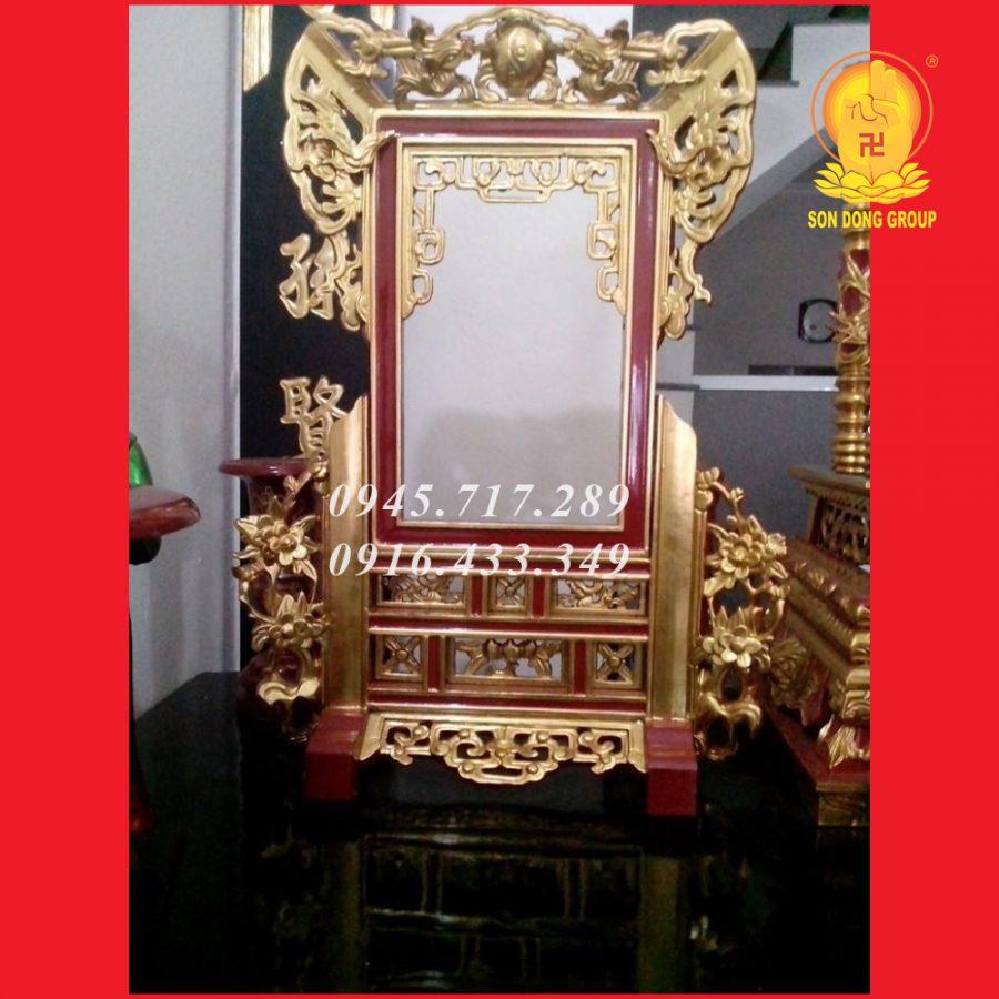 Khung Ảnh Thờ Sơn Son Thiếp Vàng KA07