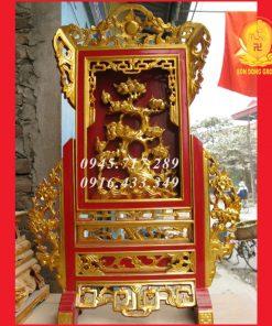 Khung Ảnh,Giá Gương Thờ Sơn Son Thếp Bạc KAT01