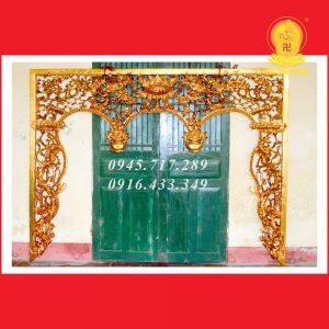 Cửa Võng Ba Khoang Lưỡng Long Chầu Nguyệt CV05