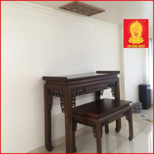 Bàn thờ gia tiên gỗ gụ dành cho chung cư, biệt thự BTT 01