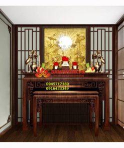 Bàn thờ dành cho phòng thờ chung cư hiện đại BBT 04