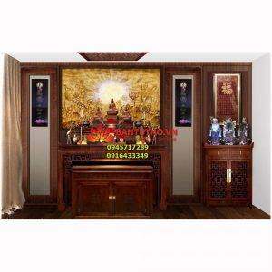 Mẫu bàn thờ dành cho nhà hiện đại , chung cư, biệt thự BBT05