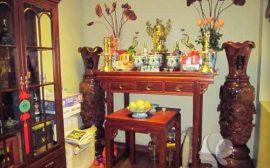 Bố trí bàn thờ cúng gia tiên theo phong thủy