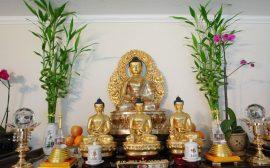 Bài trí tượng Phật trong bàn thờ Phật tại gia
