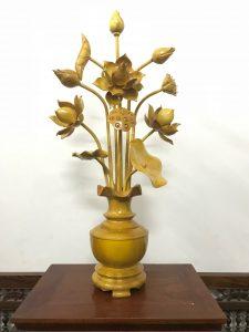 Hoa sen gỗ - sản phẩm của làng nghề Sơn Đồng
